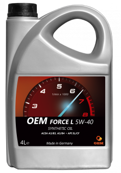Масло OEM Force  5W40 SL/CF, 4л син.